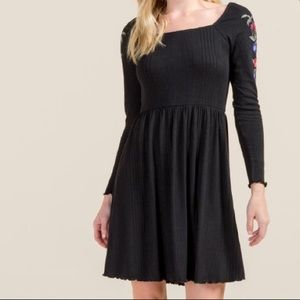 Katelin Embroidered Knit Dress